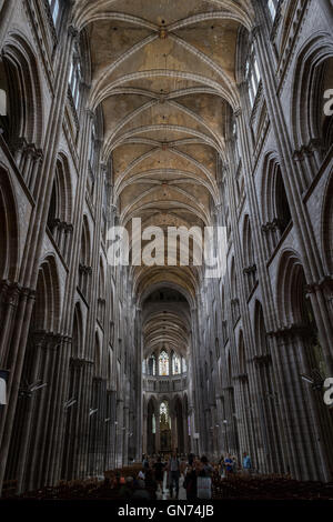 Attractive ... Nave And Ceiling Of The Cathedral Notre Dame De Lu0027Assomption De Rouen,