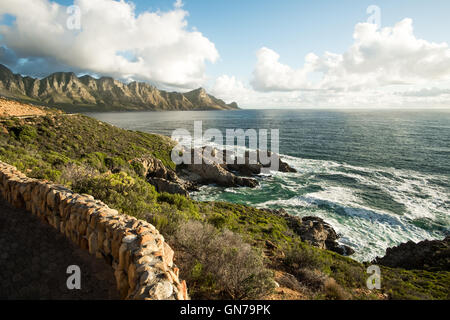 Cape Town, South Africa, Coastal Landscape with Mountains, Rocks, Sea and Road.