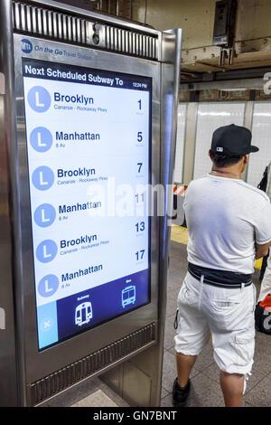 Manhattan New York City NYC NY Midtown 14th Street-Union Square subway station MTA public transportation rapid transit - Stock Photo