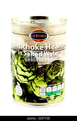 La Doria Artichoke Hearts In Salted Water - Stock Photo
