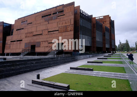 Exterior of the European Solidarity Center a museum and library devoted to the history of Solidarity, the Polish - Stock Photo