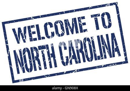 welcome to North Carolina stamp - Stock Photo