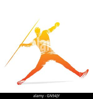 javelin player design vector - Stock Photo