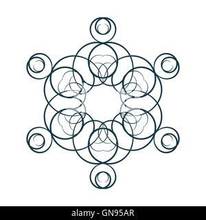 A circular ornament, vector illustration. - Stock Photo