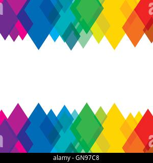 creative colorful rhombus pattern design - Stock Photo