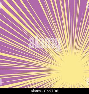 Bright burst background retro comic pop art - Stock Photo