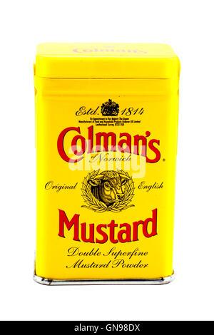 Coleman's Original English Mustard Powder - Stock Photo