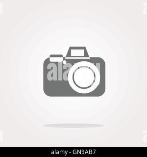 vector camera web icon - Stock Photo