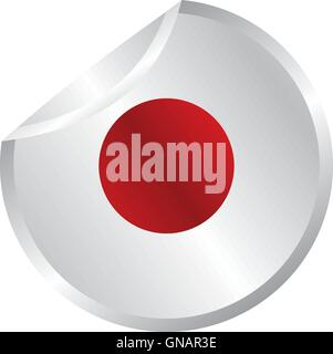 glossy theme japan national flag - Stock Photo