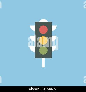 Traffic lights icon vector - Stock Photo