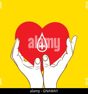 creative blood donation concept design vector - Stock Photo