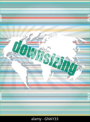 Business concept: words Downsizing on digital backgroundvector quotation marks with thin line speech bubble. concept - Stock Photo