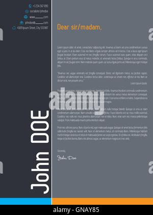 Modern Cover Letter Design With Design Elements Stock Photo Royalty