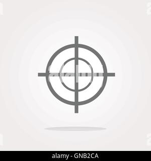 vector target icon, isolated on white background - Stock Photo