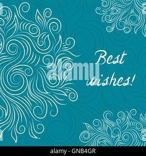 Creative Turquoise Elegant Vector Card - Stock Photo