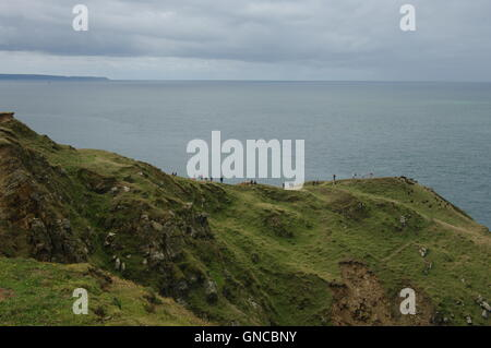 Baggy Point, near Croyde, Devon, England - Stock Photo