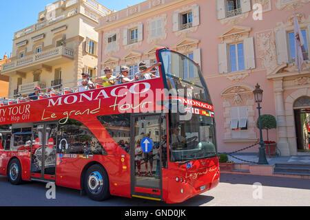 A tour bus in Monaco - Stock Photo