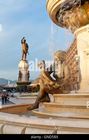 Details of statues in the city centre of Skopje, Macedonia - Stock Photo