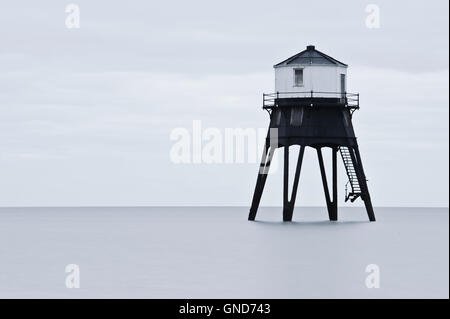 Long exposure of Dovercourt Lighthouse in Essex - Stock Photo
