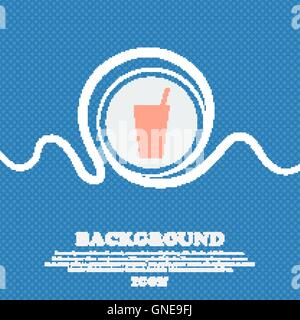 cocktail sign icon. Blue and white abstract background flecked with space for text and your design. Vector - Stock Photo