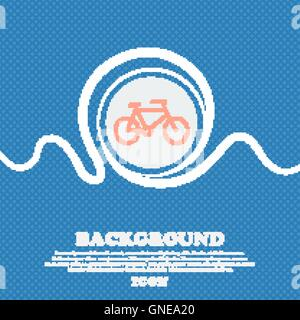 bike sign icon. Blue and white abstract background flecked with space for text and your design. Vector - Stock Photo