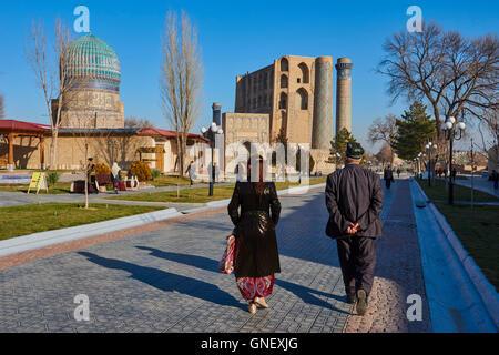 Uzbekistan, Samarkand, Unesco World Heriatge, Bibi Khanoum mosque - Stock Photo