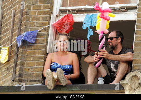 London, UK.  29th August 2016.  Europe's largest street festival, Notting Hill Carnival.  The second of two days - Stock Photo