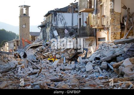 Amatrice, Italy. 29th August, 2016. : During the night of august 24 at 3.36 am a a strong earthquake hits the city - Stock Photo