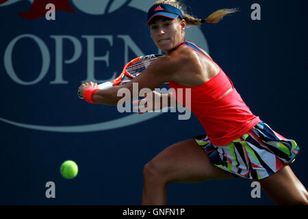 New York, United States. 31st Aug, 2016. Number 2 seed, Angelique Kerber of Germany during her second round match - Stock Photo