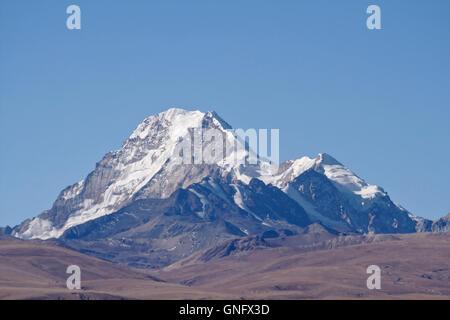 Huayna Potosi in the Cordillera Real near La Paz, Bolivia - Stock Photo
