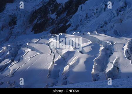 Glacier on Illimani, Bolivia - Stock Photo