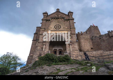 Castle of Xavier building, in Navarre, Spain - Stock Photo