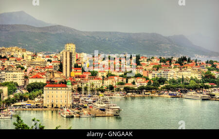 Panoramic View Of Split Croatia It Is The Second Largest