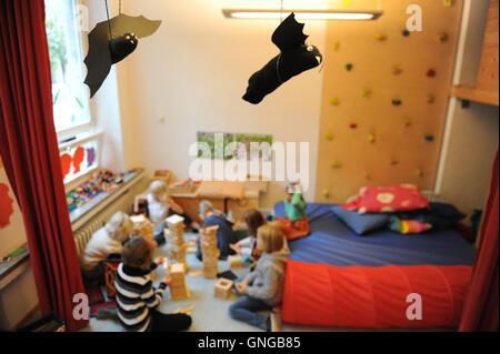 '''Die Buntstifte'', a parental initiative after school center in Munich, 2014' Stock Photo