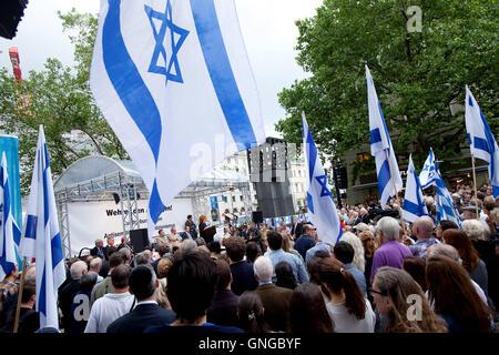 Rally against anti-Semitism in Munich, 2014 - Stock Photo