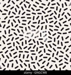 Vector Seamless  Jumble  Lines Memphis Pattern - Stock Photo