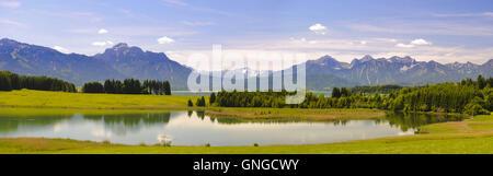 Panoramic landscape in Bavaria - Stock Photo