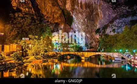 Vrelo Bune, source of the Buna river, in Blagaj - Bosnia and Herzegovina - Stock Photo