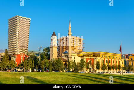 The Et'hem Bey Mosque in Tirana - Albania - Stock Photo