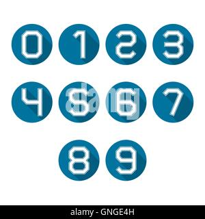 Icons numbers, vector illustration. - Stock Photo