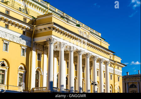 Alexandrinsky Theatre in Saint Petersburg - Russia - Stock Photo