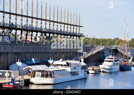 Old port of Montreal, canada - Stock Photo