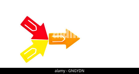 Orange Red And Yellow Arrows Stock Photo 67489567 Alamy