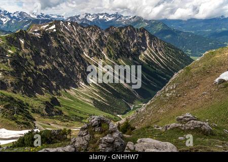 the  Allgäu Alps near Oberstdorf, Oberallgäu, Bavaria, Germany - Stock Photo