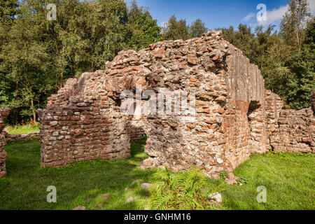 Ruins of the Roman bath house at Glannoventa, the modern Ravenglass, in Cumbria, England, UK - Stock Photo