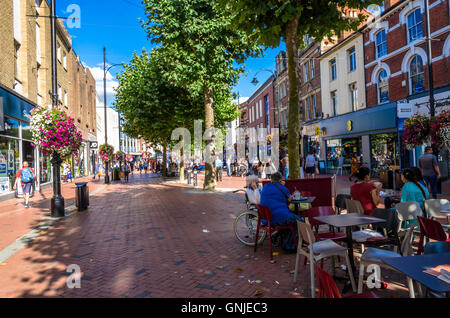 A view of Broad Street in Reading, Berkshire. - Stock Photo