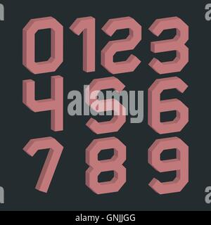 A set of numbers, vector illustration. - Stock Photo