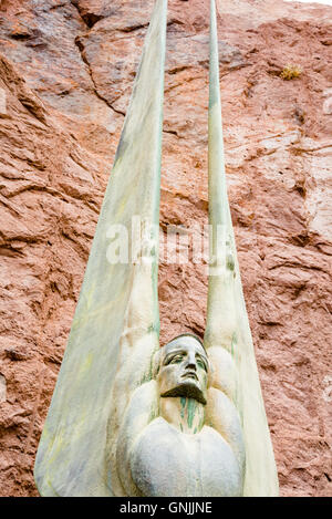 Winged Figures of the Republic Hoover Dam - Stock Photo
