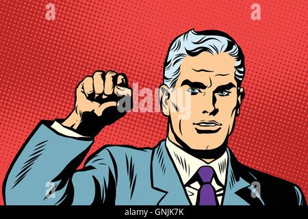 Politician protest solidarity gesture up fist activist - Stock Photo