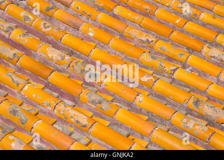 Roof Texture at Forbidden City in Beijing, China - Stock Photo